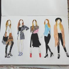 Mix them our trending style by this year. #illustration #pencil #coloring #fashion #style