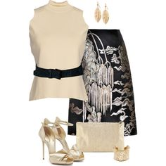 A fashion look from February 2015 featuring Giuseppe Zanotti sandals, Lauren Merkin clutches and Salvatore Ferragamo bracelets. Browse and shop related looks.