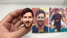 Custom Star Bobbleheads $68, Custom clay Figurine From Your Photos, Best Likeness Polymer Clay People, Cute Polymer Clay, Polymer Clay Dolls, Diy Clay, Clay Crafts, Diy Crafts To Sell, Diy Crafts For Kids, Fondant Face Tutorial, Messi Poster