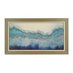 Shades of Blue Framed Art Print