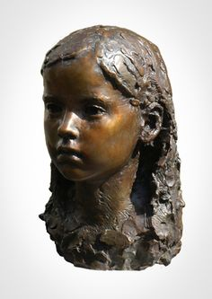 One of the finest portrait sculptors in the world, Mark Richards creates exquisite portraits of children. His work has been compared to century French masters Houdon, Pajou and Carpeaux. Portrait Sculpture, Sculpture Head, Bronze Sculpture, Ceramic Figures, Ceramic Artists, Carpeaux, Abstract Faces, Contemporary Sculpture, Clay Art