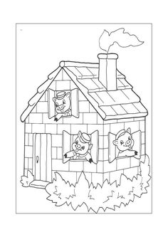 The Three Little Pigs Heard Big Bad Wolf Up On Roof They Quickly Built A Fire In Fireplace And Put Large Pot Filled With Hot Water Over