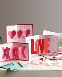 valentine card diy | These cute pop up cards are from marthastewart.com. Click HERE to see ...