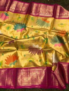 Pattu Sarees Wedding, Latest Pattu Sarees, Indian Bridal Sarees, Bridal Silk Saree, Indian Silk Sarees, Saree Tassels Designs, Silk Saree Blouse Designs, Bridal Blouse Designs, Kora Silk Sarees