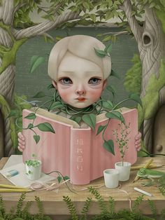 Surreal book art by Hsiao-Ron Cheng.