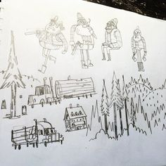 #lumberjack #doodles by bearmanbeast