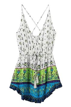 Tiny Floral Print Tie-Up Sleeveless Dress