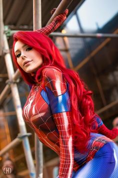 Jenna Lynn Meowri as Mary Jane Watson (Spidersuit ver.) - More at https://pinterest.com/supergirlsart #hot #sexy #cosplay #girl #mj #mjw