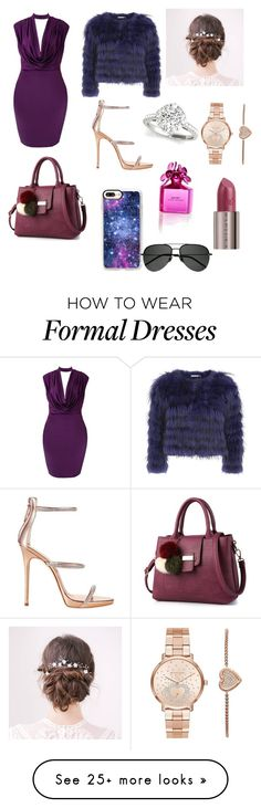 """""""Formal"""" by jjbean001 on Polyvore featuring Alice + Olivia, Giuseppe Zanotti, Casetify, Michael Kors, Marc Jacobs, Urban Decay and Yves Saint Laurent"""