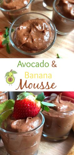 This Avocado and Banana Mousse is so quick and easy to make, it's naturally sweetened and it tastes delicious. Baby Food Recipes, Sweet Recipes, Snack Recipes, Avocado Recipes, Easy Recipes, Snacks, Healthy Toddler Meals, Easy Meals For Kids, Kids Meals