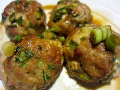 Asian Turkey Meatballs. Quick Weeknight Meal - serving with rice & stir fry veg ~ vk.