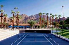 Voted one of the top tennis resorts in the world, La Quinta Resort & Club is the pinnacle of luxury resorts in the Palm Desert. Palm Springs Resorts, Hotels And Resorts, Palm Springs Tennis Club, Indoor Tennis, Tennis Clubs, Hotel Deals, Around The Worlds, America, Island