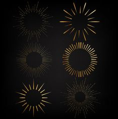 Gold elements Free Vector | Free Vector #Freepik #freevector #freebackground #freepattern #freegold #freewinter