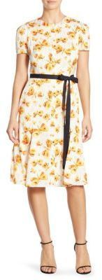 Carolina Herrera Butterfly-Print Dress