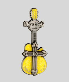 Worn worldwide, the Hard Rock collection is like no other. This eclectic online shop carries a vast variety of authentic Hard Rock merchandise such as Pins and Tees. Rock Merchandise, Rock Collection, Hard Rock, Sale Items, 3d, Yellow, Shopping, Music, Hard Rock Music