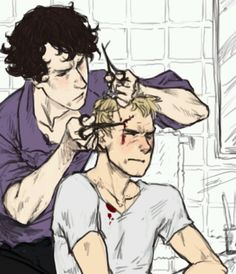 """""""How did you talk me into this?""""  """"Hush, John. I'm trying to focus. """""""