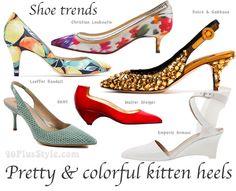 mid heel shoe trends for spring funky kitten heels Spring Summer Trends, Spring 2014, Mid Heel Shoes, 2014 Trends, Fashion For Women Over 40, Types Of Shoes, Stiletto Heels, Christian Louboutin, Kitten Heels