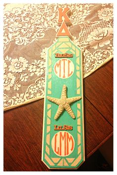 Real sand and starfish :) #sorority #paddle #biglittle