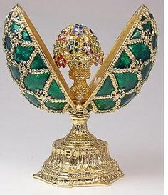 faberge eggs. A surprise within .. This is another breath taking piece. KMW