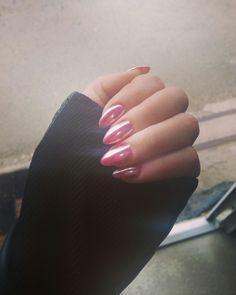 Rosegold chrome nails 💞