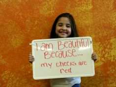 Here's Miss Ella she took on our I am beautiful campaign!