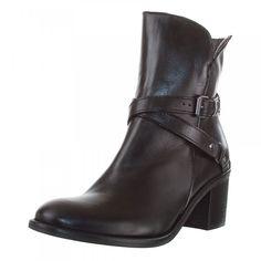 PIERRE CARDIN Damen Stiefelette, Leder, Absatz 6 cm, schwarz