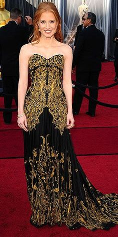 Jessica Chastain in Alexander McQueen at the 84th Academy Awards
