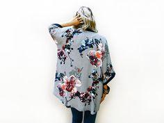 ETSY: Bohemian Kimono Cardigan Light Summer Jacket by ALUMAhandmade