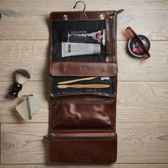 Leather Hanging Washbag- notonthehighstreet.com