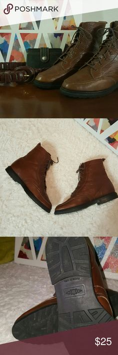 Eddie Bauer Leather Boot Gently worn, genuine leather, very nice condition. Eddie Bauer Shoes Lace Up Boots