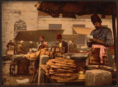 Street food 1890-1900. Not much has changed other than the fez!