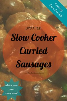 I've updated my most popular recipe - slow cooker curried sausages. Includes making a curry roux from scratch. Sausage Recipes, Crockpot Recipes, Curried Sausages, Slow Cooker Curry, Tonkatsu Sauce, Pork Ham, Most Popular Recipes, Healthy Habits, Slow Cooker Recipes