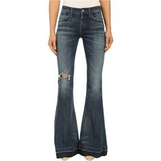 A Gold E Madison Flare in Distressed Starwood (Distressed Starwood)... ($90) ❤ liked on Polyvore featuring jeans, blue, blue ripped jeans, blue skinny jeans, flared leg jeans, destroyed skinny jeans and destructed skinny jeans