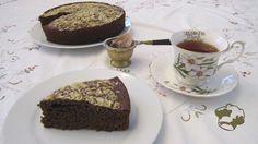 Bizcocho de café y cacao con harina de garbanzo