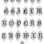 Gothic Letters 10 - Letters A to Z
