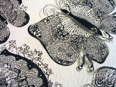 Hina Aoyama is a Japanese paper artist based in France. Here are some of Hina Aoyama's stunning paper cutout artworks. Kirigami, Paper Cutting, Cut Paper, Paper Cut Design, Paper Butterflies, Butterfly Art, Paper Lace, Fine Paper, Paper Artwork
