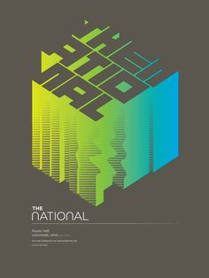 """The National MusicNow 2011 - 19""""x25"""" screenprint with 3 colors using a split fountain, by John Solimine (aka Spike Press), on Behance"""