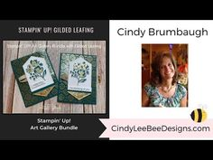 Stampin' UP! Art Gallery with Gilded Leafing Bee Design, Fun Fold Cards, Folded Cards, Art Gallery, Card Ideas, Diy Ideas, Gift Cards Money, Card Making, Money Holders