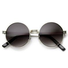 Retro Steampunk Inspired Thick Metal Round Sunglasses - zeroUV