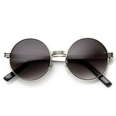 Retro Steampunk Inspired Thick Metal Round Sunglasses - zeroUV