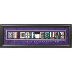 St. Catherine University Wildcats 8'' x 24'' Framed Letter Art - $37.99