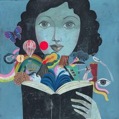 new work spring 2011 by olaf hajek from his illustration portfolios on Dripbook. Olaf, I Love Books, My Books, Library Books, Arte Popular, Pablo Picasso, New Work, Book Lovers, Book Worms
