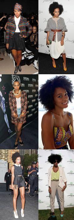 Depois de pegar algumas dicas para o cabelo afro, você pode conhecer melhor o estilo da Solange Knowles. A irmã da famosa Beyoncé tem um estilo único que só valoriza sua beleza negra na hora de se vestir. Solange aposta nas roupas com estampas trib...