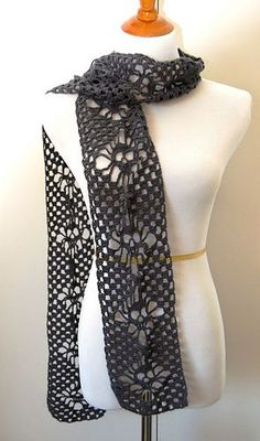 Skulls Scarf is VERY nice. FREE CROCHET PATTERN @ Ravelry