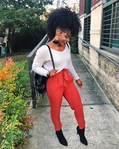 image of kish ( wearing pants by marshall's, boots by steve madden - Perfect Outfits For Your Fall Wardrobe Fall Fashion Outfits, Winter Outfits, Autumn Fashion, Classy Outfits, Casual Outfits, Cute Outfits, Black Girl Fashion, Fashion Looks, Best Friend Outfits