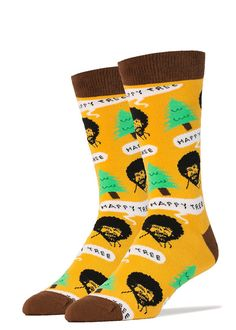 4cb5c5f68b1 Funny art socks for men feature beloved TV painter