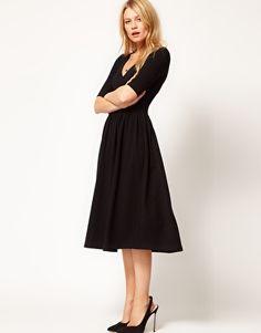 ASOS Midi Dress With Ballet Wrap