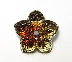 Foilback Flower Beads || Eclectica Beads
