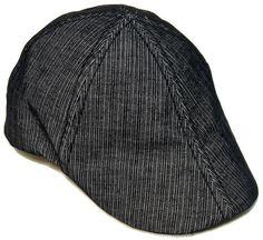 Levi's Newsboy Golf Cabbie Cap Beret Beanie Gatsby Pageboy Black Hat Size Medium…