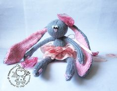 Bunny Peony knitting pattern knitted by simplytoys13 on Etsy